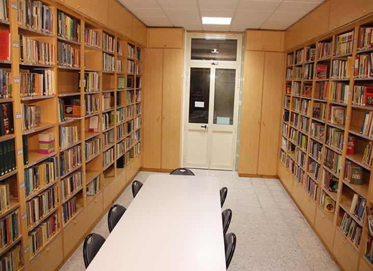 Photo of our library.